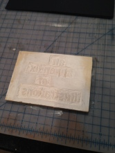 Carving the Stamp